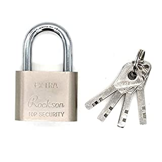 Green padlock Key Padlock - Gym, Sports, School and Employee Lockers, Outdoor, Fence, Buckle and Storage Digital Combination Lock - All Weather Metal and Steel - Easy to set up your own keyless free reset combination with laminated padlocks, key locks with different padlocks, With 50M wide body, 1/4 inch shackle