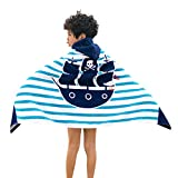 VECDY Childrens Bath Towels Kids Cartoon Hooded Swimming Beach Bath Towel Thicken Soft Thickened Cloak