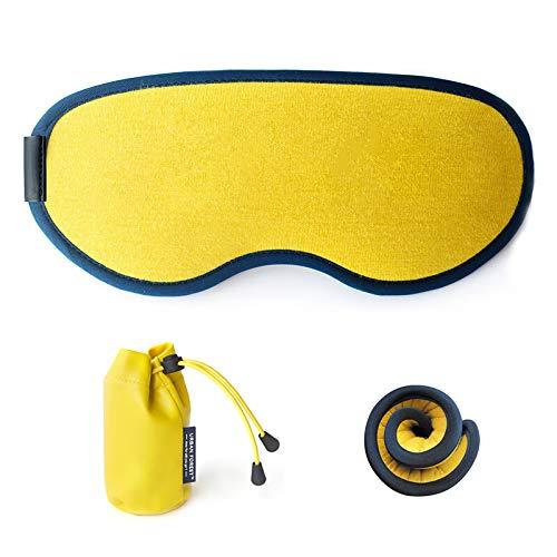 T-YZAG 2 piezas Máscara ocular Sombra del sueño linda máscara ocular estudiante masculino dama avión productos de viaje viajes, desierto amarillo