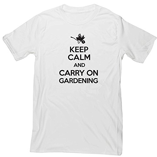Hippowarehouse Keep Calm and Carry on Gardening Unisex Short Sleeve t-Shirt (Specific Size Guide in Description)