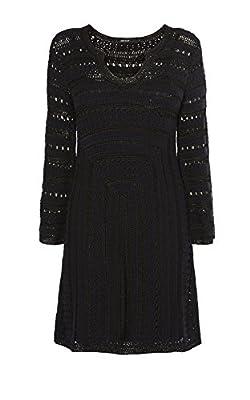 Karen Millen Black BNWT £120 Crochet Knit Evening Dress - KZ104