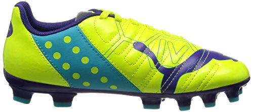 Puma evoPOWER 4 AG Jr, Scarpe da calcio Unisex - bambino Arancione (Orange (fluro yellow-prism violet-scuba blue 03))