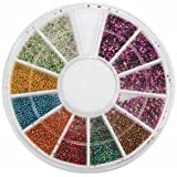 Mini Manicure Caviar Nails Art Tips Metal Micro Ball Beads Disc