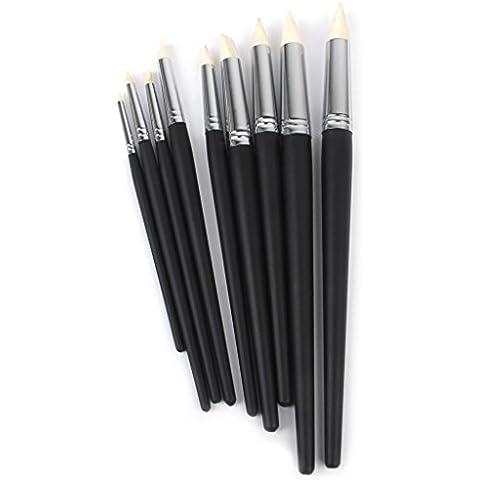 snowwer suave arcilla color Shaper consejos Escultura herramientas de pintura conjunto de 9, color