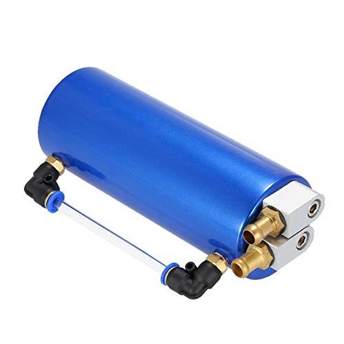 fengwen66 Serbatoio dell'olio per Auto da Corsa Portatile Serbatoio Universale per Serbatoio dello sfiato Serbatoio Blu