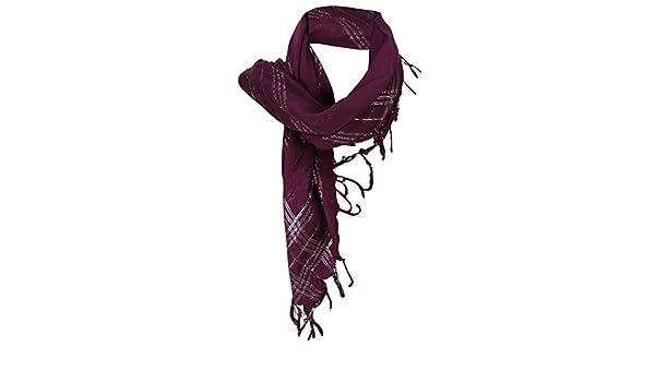 Halstuch in lila pink grau schwarz rosa geblümt mit langen Fransen 90 x 90 cm