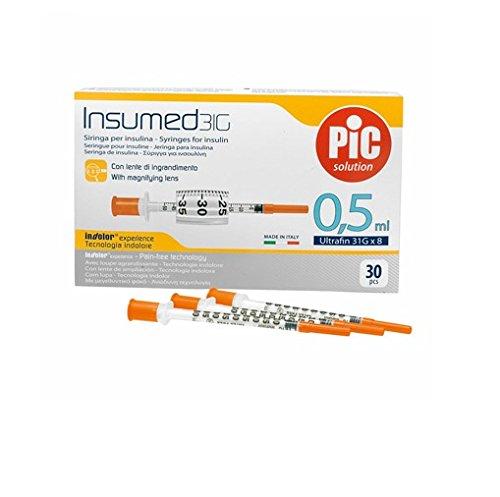 Siringhe Per Insulina Da 0,5 Ml Insumed Siringa Per Insulina G 31 0,5 Ml 30 Pezzi