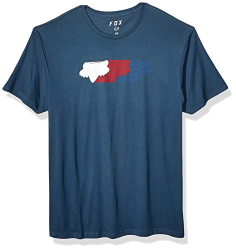 Fox Herren Faded Short Sleeve Premium T-Shirt, Navy, Mittel - Fox Navy T-shirt