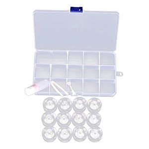 Healifty Kontaktlinsen Box Umweltfreundlich Kunststoff Transparente Kontaktlinsentragetasche mit 12 Schachteln(Zufällige Farbe)