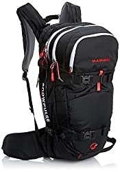 Mammut Lawinenrucksack Ride Removable Airbag, Black/Fire, 29 x 23 x 50 cm, 22 Liter