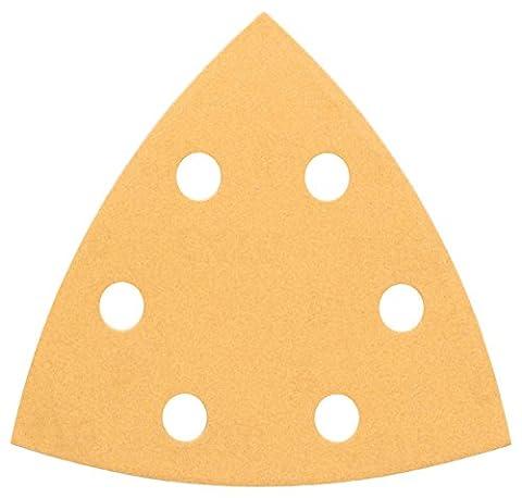 Bosch 2608605149 Feuille abrasive pour ponceuse delta 93 mm 6 Trous Grain 60 5 pièces