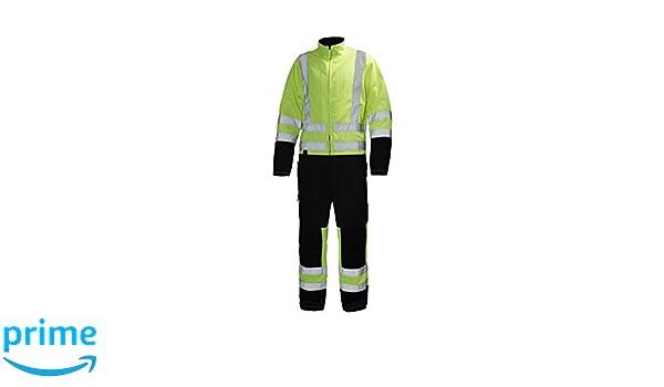 gelb Helly Hansen Workwear Warnschutz Wetterschutz-Overall Alta Suit CL3 wasserdichter isolierter Winter-Arbeitsanzug 369 44 70665
