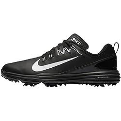 Nike Lunar Command 2, Zapatos de Golf para Hombre, Negro White-Black 002, 45 EU