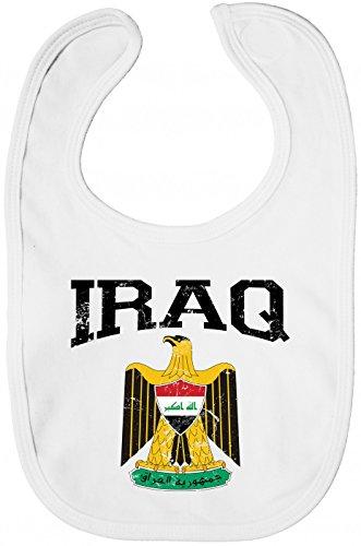 Irak Wappen Lätzchen   Republik Iraq   Saladin-Adler   Bagdad   Sabberlätzchen   Baby-Lätzchen, Farbe:Weiß (White BZ12);Größe:Onesize