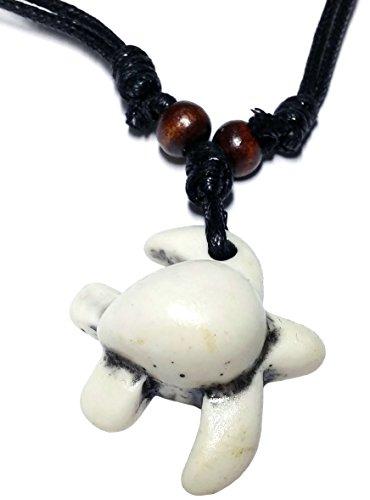 childkröte Meer Anhänger Kunststoff weiß Halskette ausziehbar ab 53 cm ()
