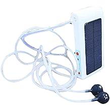 Topker Banco de energía solar portátil Cargador de banco Oxígeno Oxígeno Aireador Bomba de oxígeno Estanque de la piscina Pecera de acuario