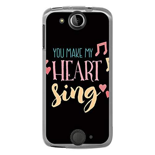 BJJ SHOP Custodia Trasparente per [ Acer Liquid Jade S ], Cover in Silicone Flessibile TPU, Design: Frase d'Amore, You Make My Heart Sing