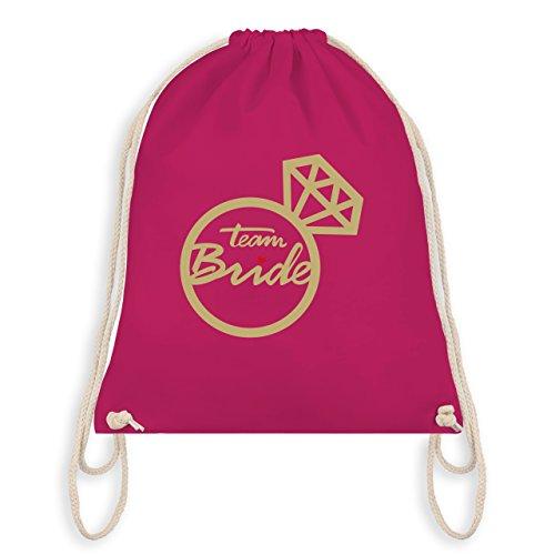 JGA Junggesellinnenabschied - Team Bride - Diamantring - Turnbeutel I Gym Bag Fuchsia