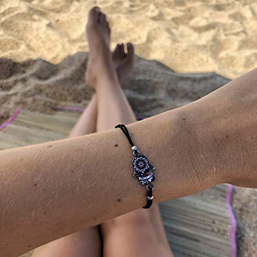 Armband Frauen Damen Mädchen Surferarmband Freundschaftsarmband Made by Nami Armbänder - Handmade Surfer Schmuck Damen Sommer Boho Strand Girl Anhänger