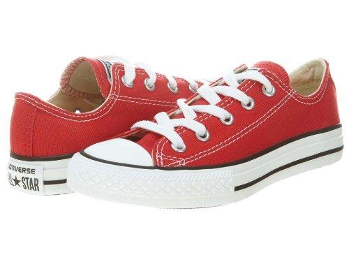 Converse Jr. Chuck Taylor All Star Print Ox Ash Grey/Casino Denim 651700F (3 M US Little Kid, Red)