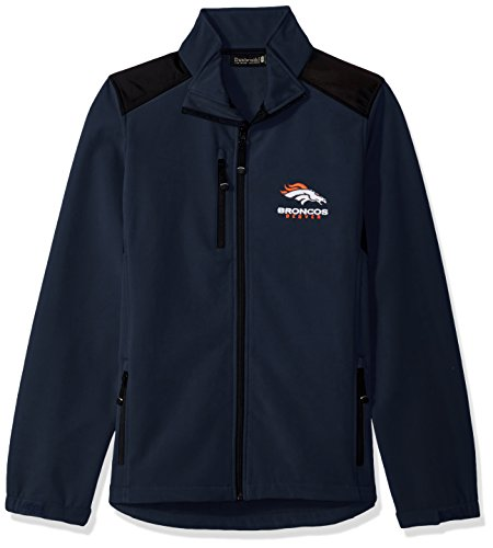 NFL Denver Broncos Damen Softshell Jacke, Größe M, Marineblau (Broncos Jacke)
