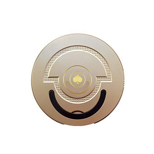 JINRU Super Silencioso Robótica Aspiradora con Tecnología De Detección De Gota Y Filtro De Alto Rendimiento para Pet, Diseñado para Piso Duro Y Alfombra Delgada (Slim),Metallic