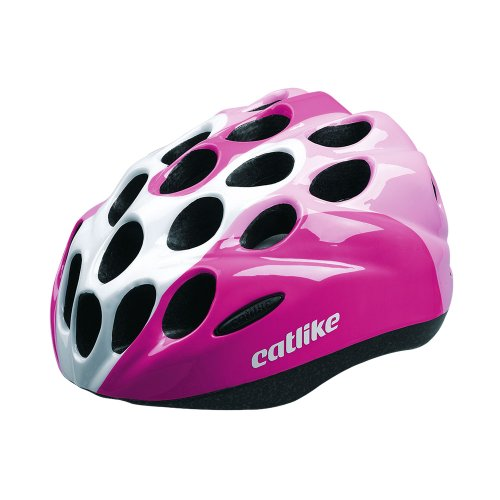 Catlike Kitten - Casco de ciclismo, color rosa / blanco brillo, talla S (52-55 cm)