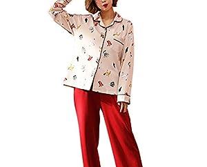 servicio doméstico: Lostryy Conjunto de Pijama para Mujer/Albornoz/Servicio doméstico/Algodón de Man...