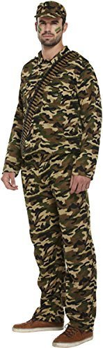 "fancy dress army man soldier camoflauge fits to 44"" chest by Best Dressed"