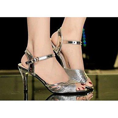LvYuan Da donna-Sandali-CasualA stiletto-PU (Poliuretano)-Argento / Dorato Silver