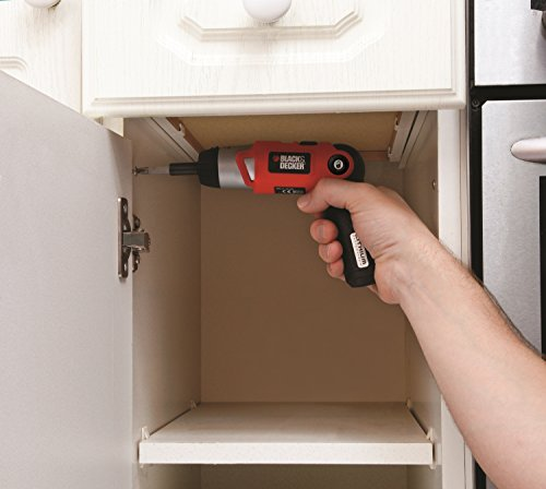 Has the ability to pivot from a straight screwdriver to angled screwdriver in a drilling position