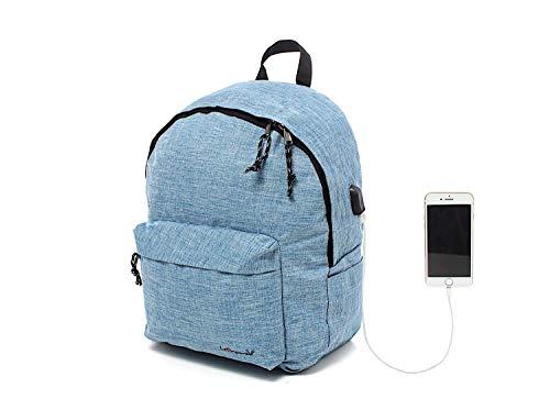 Leonardo Zaino Casual classico con Lucchetto, imbottito per Tablet, iPad, Porta PC, Computer, Macbook 15