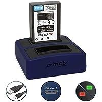 Batería + Cargador doble Compact (USB) para Nikon EN-EL9 | Nikon D40, D40x, D60, D3000, D5000 - Cable USB micro incluido