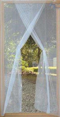 Insektenschutz für Türen, Fliegengitter waschbar - zweiteilig: 2 Schals à 75 x 220 cm