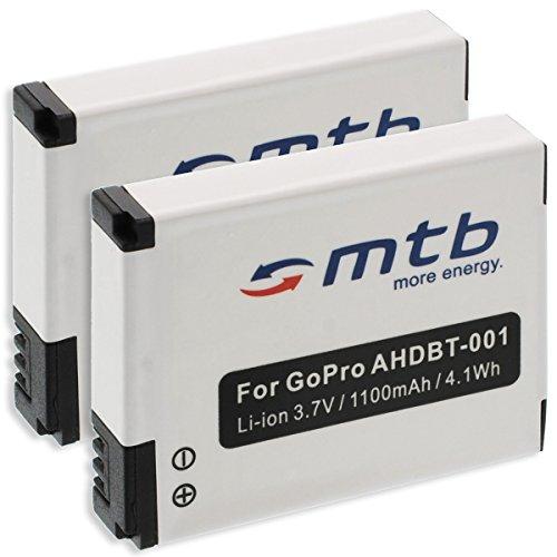 Galleria fotografica 2x Batterie ABPAK-001, AHDBT-001, AHDBT-002 per Gopro Hero / HD Hero / HD Hero 2