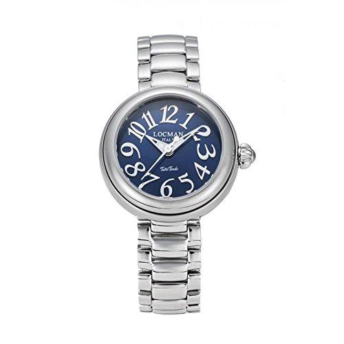Watch Locman Locman Women Quartz 0361V0100blnkbr0(Rechargeable) quandrante Blue Strap Stainless Steel