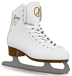 Galaxy Ice Skates with Guards and Pink SFR bag (UK SIZE 1)