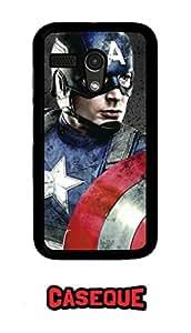 Caseque Captain America Dek Back Shell Case Cover For Moto G (1st Gen.)
