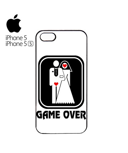 Game Over Funny Marriage Married Poor Guy Boy Mobile Phone Case Cover iPhone 4&4s White Blanc