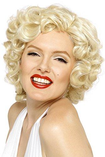 Perücken Blond Kostüm (Marilyn Monroe Perücke Blond Kurz, One)