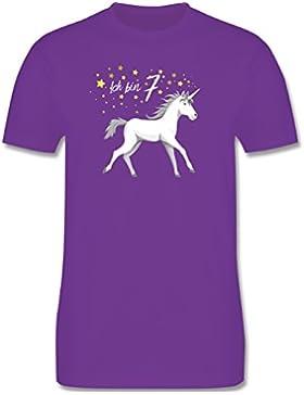 Geburtstag Kind - 7. Geburtstag Einhorn - Kinder T-Shirt