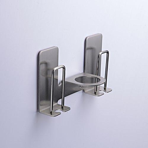 Chrasy Zahnbürstenhalter Zahnbürstenhalterung Wandhalterung Stark Selbstklebend Edelstahl Durch Badezimmer Zubehör, 2 in 1
