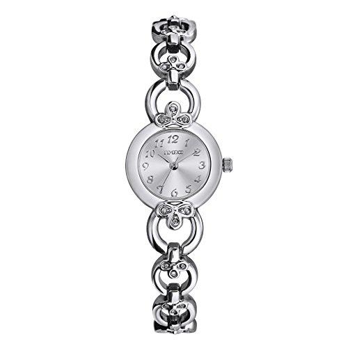 Time100 Orologio da Polso da Donna Decorato con i Diamanti Movimento al...