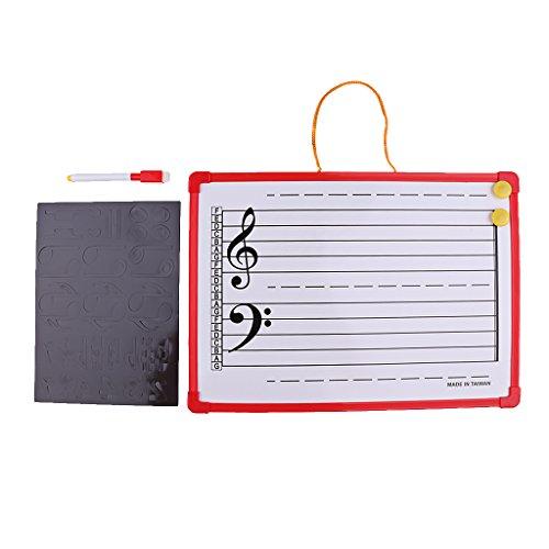 MagiDeal Musik Notation Whiteboard DIY löschen Board mit Musik Personal Magnet - Magnet Löschen-board Trockenen