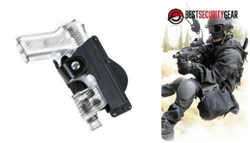 FOBUS Paddle Holster für Rechtshänder RH in schwarz für Glock 17, 22, 31 mit Lampe & Laser Träger + Ruger 345, SR9 mit Lampe & Laser Träger + Beretta PX4 STORM Full-Size und Beretta 92FS mit Lampe & Laser Träger + Smith & Wesson 99 Full-Size, 9mm .40 & .45 cal Smith & Wesson M&P Full-Size, 9mm .40 & .45 cal mit Lampe & Laser Träger + Walther P99 mit Lampe & Laser Träger FOBUS GLT17 EM17 + Best Security Gear Magnet