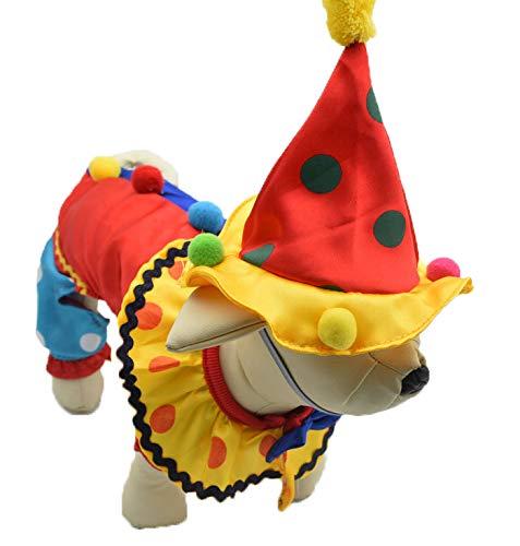 LBX Pet Halloween Clown Kostüm Gestrickte Polyester-Material Mehrere Größen Langlebig Leicht Zu Reinigen Weihnachtliche Lustige ()