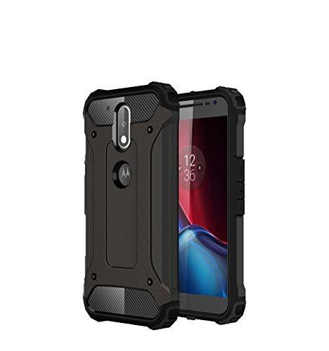 efafe882ec3 Funda Moto G4 Plus, SsHhUu 2 in1 TPU + PC Doble Capa Protección A prueba