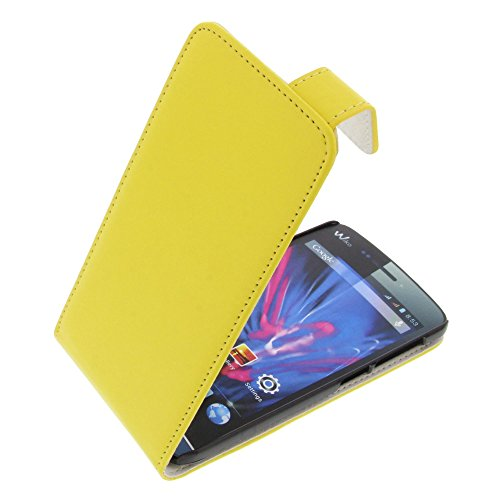 foto-kontor Tasche für Wiko Wax Wax 4G Flipstyle Schutz Hülle Handytasche gelb