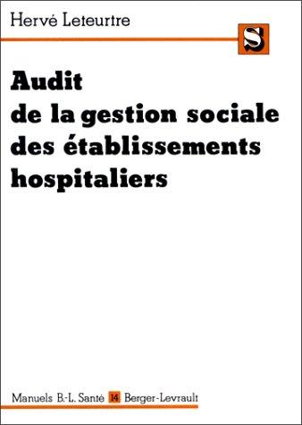 Audit de la gestion sociale des établissements hospitaliers