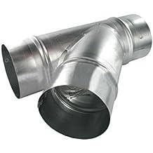 MUNDOCLIMA Te Simple 45º Chapa Galvanizada Conductos de Ventilación